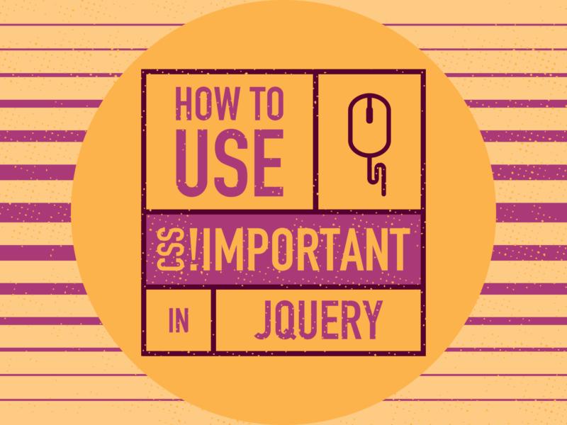jQueryで CSSの !importantを使う方法